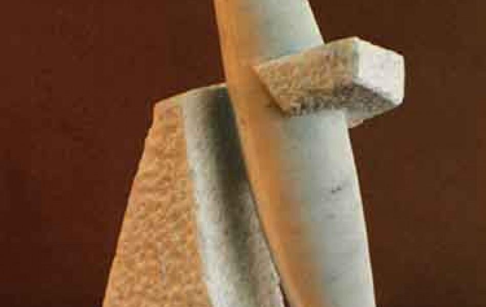 Fuerzas que emanan  51 x 43 x 10 mármol de Carrara 1997