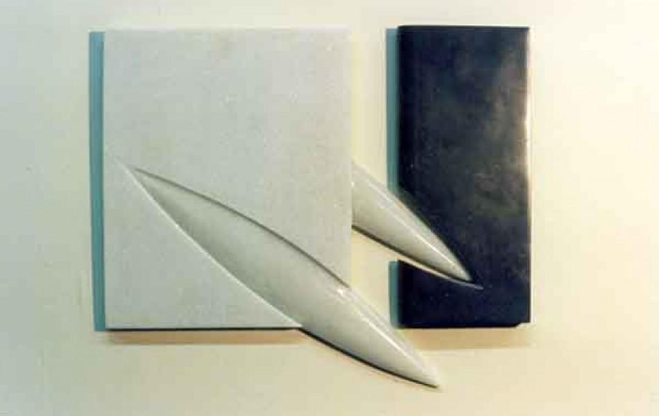 Momentos duraderos I dimensiones varias. mármol y p. de Calatorao 1998