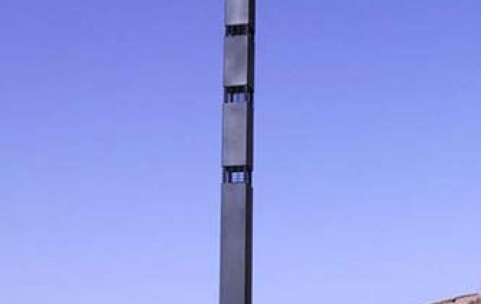 Peiron X 212 x 30 x 30 hierro y pizarra 1992