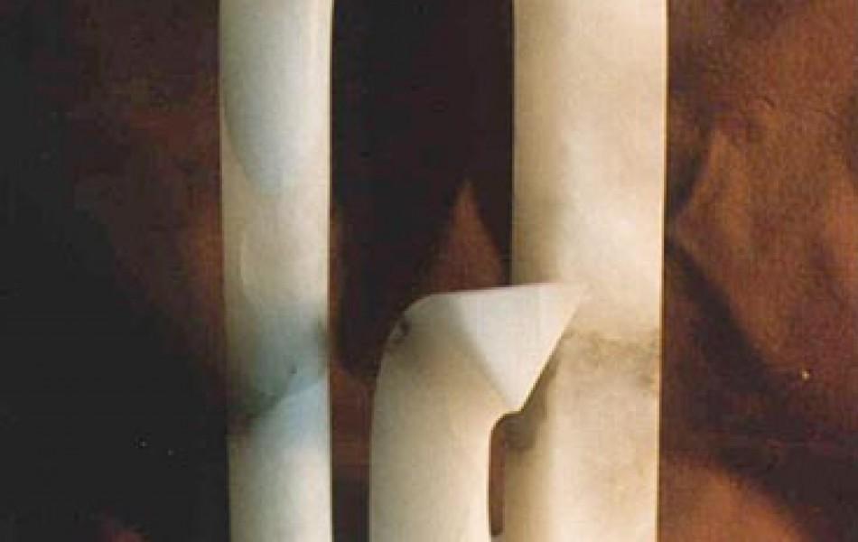 TRES PRINCIPIOS 47 x 18 x 14 alabastro 1991